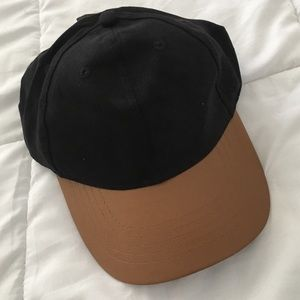 NEW Faux Leather Baseball Cap